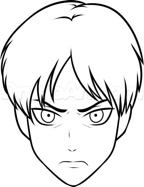how to draw a easy how to draw eren easy step by step anime characters anime draw japanese anime