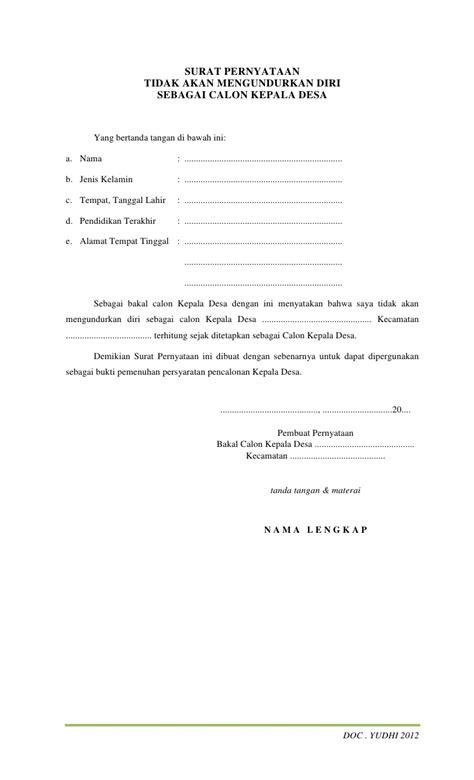 contoh surat pengunduran diri dari jabatan wakil kepala sekolah contoh dokumen pilkades