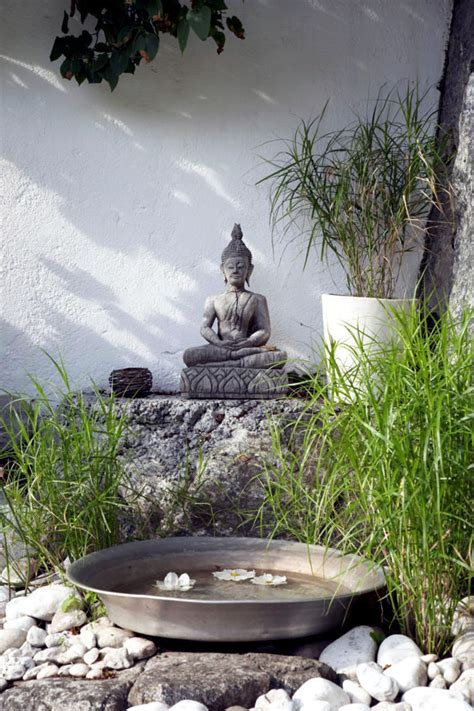 Striped Dining Room Chairs by Buddha Statue In The Garden Of Natural Stone Interior