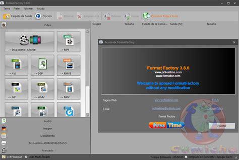 format factory ultima version format factory v3 3 8 0 0 ultima versi 243 n full en espa 241 ol
