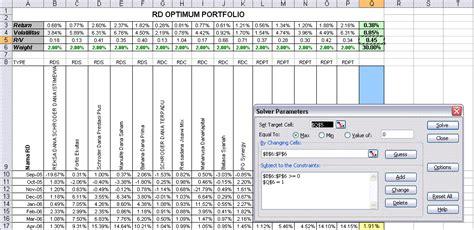 Portofolio Dgn Excel optimalisasi portfolio studi kasus memanfaatkan portalreksadana matrix portalreksadana