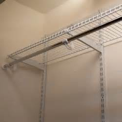 White Wire Closet Racks Inexpensive Interior With Beige Painted Walls And High