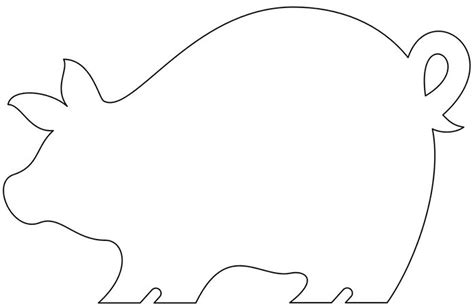 Pig Template Animal Templates Free Premium Templates Printable Cutting Board Templates
