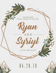customize 780+ wedding invitation templates | postermywall