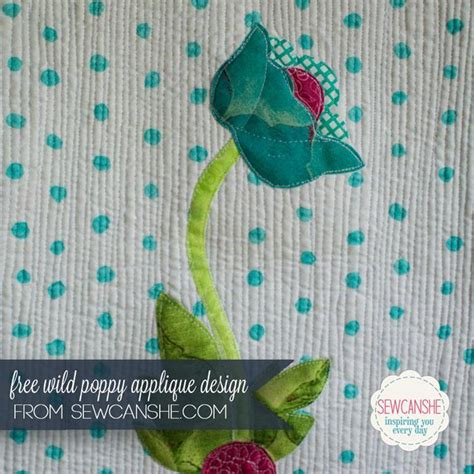Poppy Applique Quilt Pattern by Free Quilt Pattern Poppy Applique