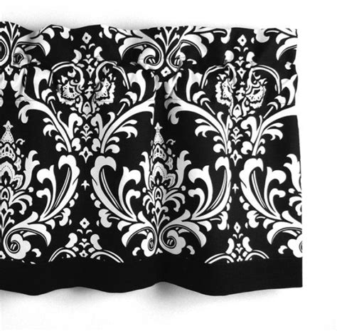 Black White Valance Damask Valance In Black White Floral Pattern Curtain
