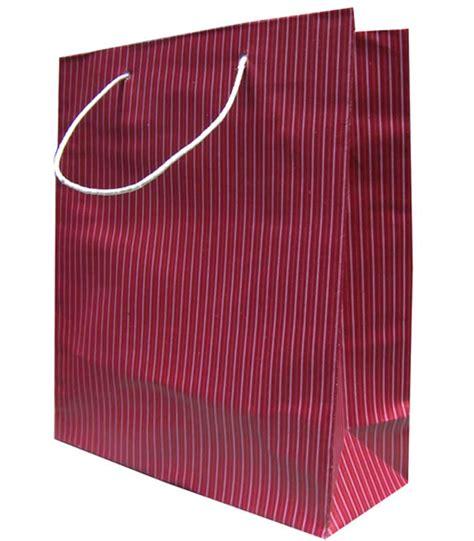 Paper Bag Garis Garis tb 2 garis maroon tempatnya cetak tas kertas atau paper