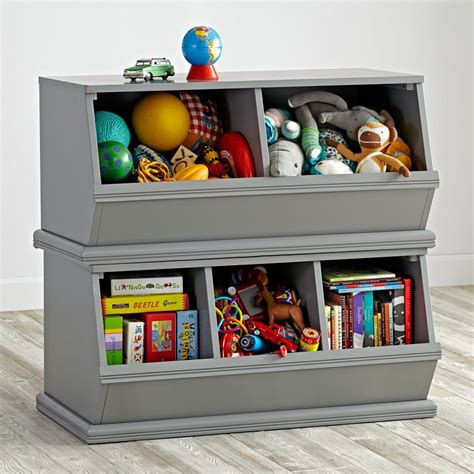 children storage grey toy storage the land of nod