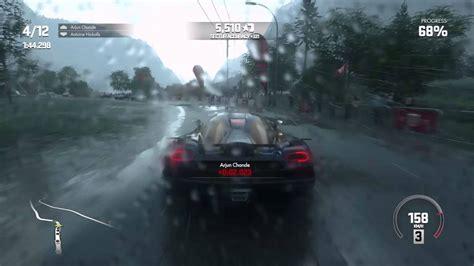 koenigsegg rain driveclub gameplay koenigsegg agera r heavy rain youtube