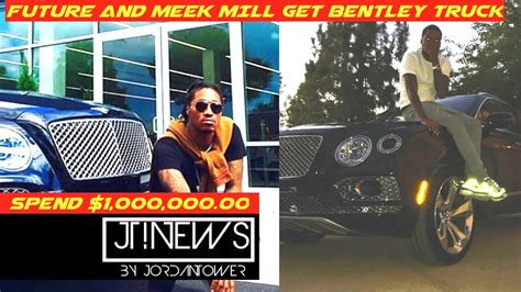 meek mill bentley truck meek mill and future get matching limited edition bentley