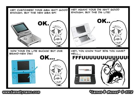 Ds Memes - games memes comics new nintendo 3ds xl bigger and