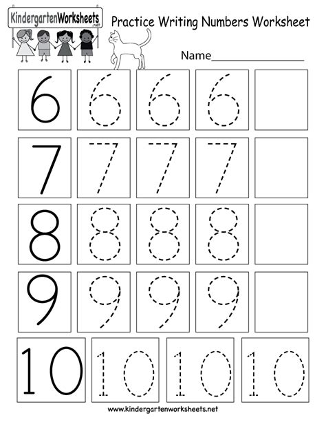 printable kindergarten numbers worksheets practice writing numbers worksheet free kindergarten