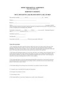 One Page Rental Agreement Template by One Page Rental Agreement Template Lease