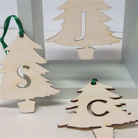 Letter Tree Decorations by Initial Letter Tree Decorations By Hickory Dickory Designs Notonthehighstreet