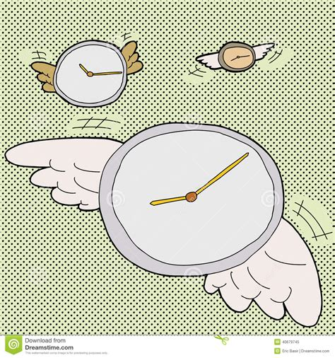 Time Sure Flies With These Clocks by Time Flies Clocks Stock Vector Image 40679745