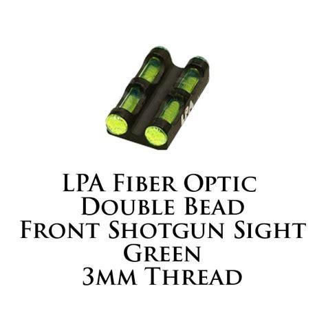 fiber optic bead sight lpa fiber optic bead shotgun sight green 3mm mf30g