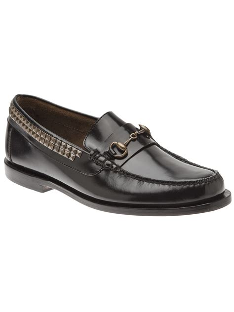 studded loafers caminando studded loafer in black for lyst