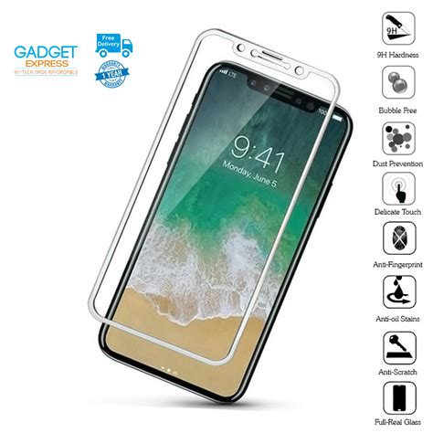 Tempered Glass Iphone X Screen 5d for iphone x 8 plus 8 gex tempered glass screen protector 5d cover hd ebay