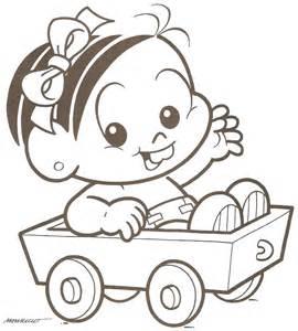 desenho monica baby carrinho colorir tudodesenhos