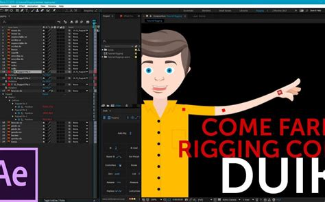 tutorial after effects duik tutorial after effects come fare rigging con duik per un