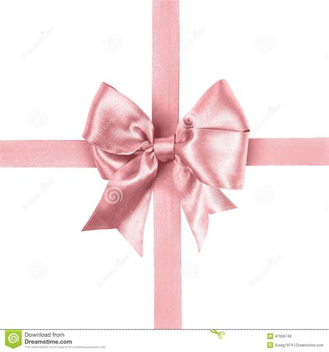 light pink bow light pink bow made from silk ribbon stock image image