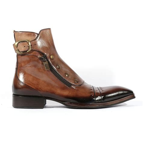 italian boots jo ghost italian mens shoes playo inglese tabacco brown