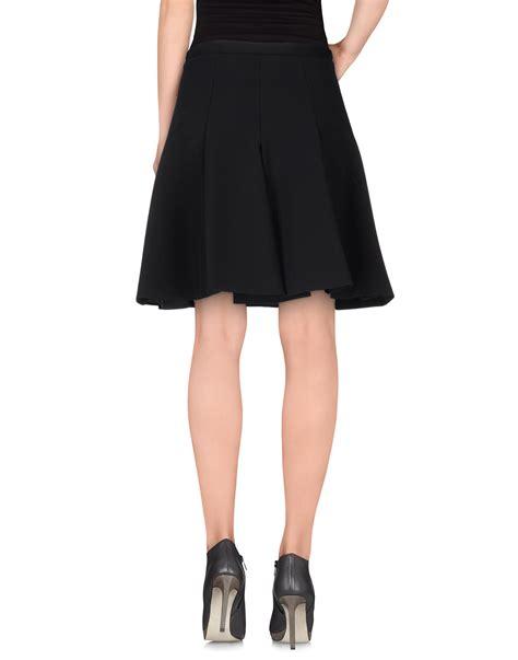 philosophy di alberta ferretti knee length skirt in black