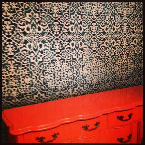 moroccan pattern wall stencil moroccan wall stencil wall treatments pinterest