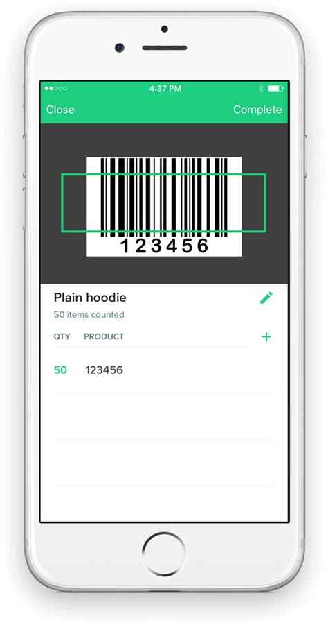 Iphone Scan Barcode To Spreadsheet counter free inventory barcode scanner iphone app for