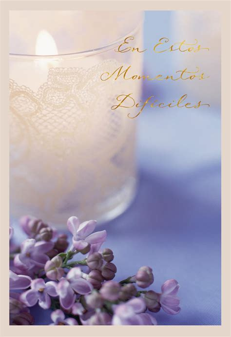 Lavender and Lace Spanish Language Sympathy Card
