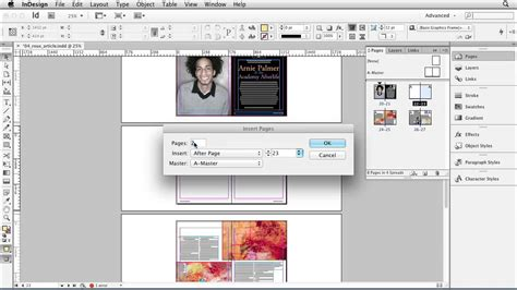 tutorial de indesign cs6 indesign cs6 how to manage pages lynda com tutorial
