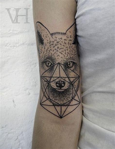 tattoo geometric fox 30 amazing dot work tattoo ideas