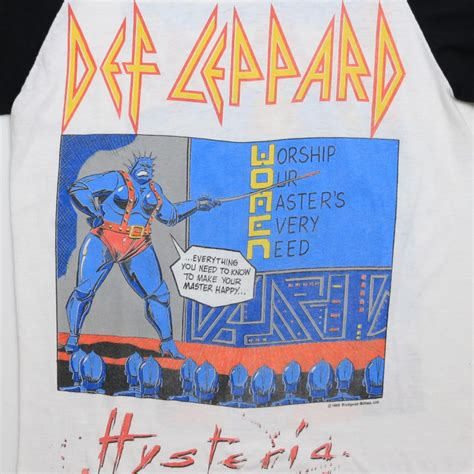 def leppard women def leppard and the women of doom hysteria jersey 1987