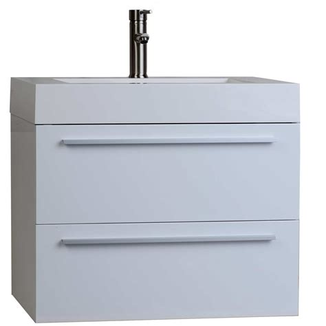 high bathroom vanity buy 26 75 in single bathroom vanity set in high gloss white tn t690 hgw on