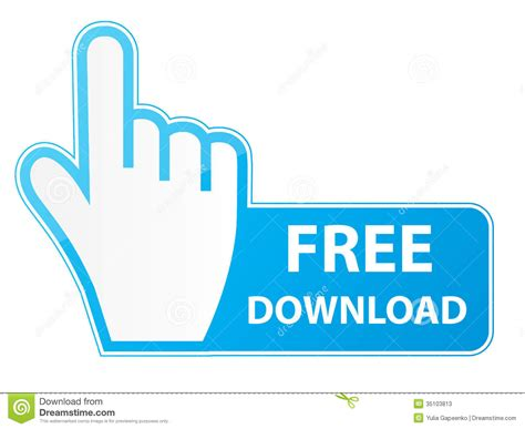 mouse hand cursor on free download button vector stock