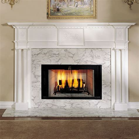 Wood Fireplace Surrounds by Alexandria 52 In X 39 In Wood Fireplace Mantel Surround