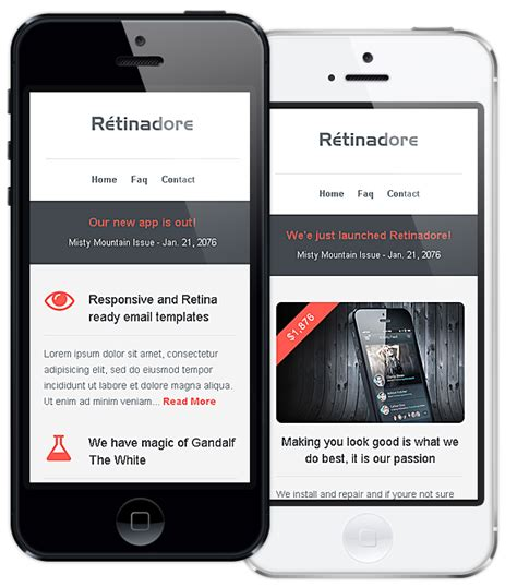 Retinadore Responsive Email Newsletter Template By Bedros Themeforest Responsive Email Template Themeforest
