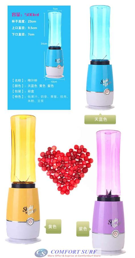 Shake N Take Ii 1 Botol Mini Blender Sporty Travel Portable Organizer shake n take 3 3rd generation mini juice blender 1 bottle