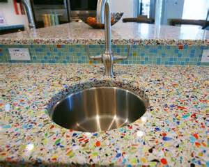 recycled kitchen countertops vetrazzo millefiori recycled glass islands contemporary