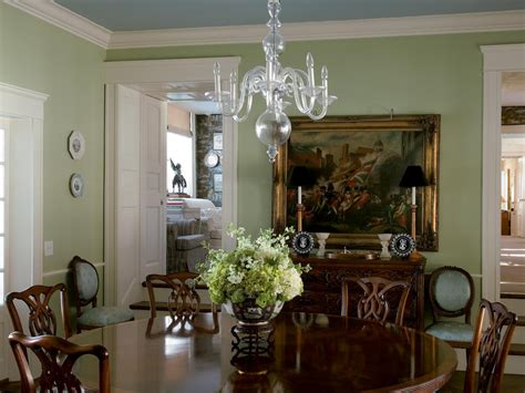 green dining room photos hgtv