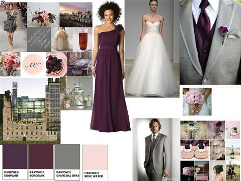 gray and wine color scheme wedding pinterest