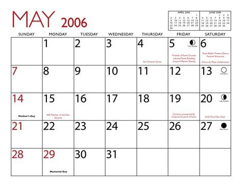 April 2006 Calendar June 2015 Moon Calendar Calendar Template 2016