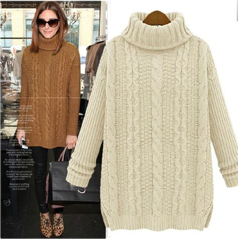 puntos de chompas para mayores mujeres camel brown turtleneck cable knit sweater as seen on