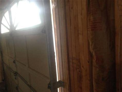 Leveling Garage Door Doityourself Com Community Forums Garage Door Gap Side