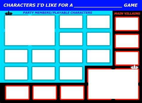 character card template drama character meme by 4xeyes1987 on deviantart