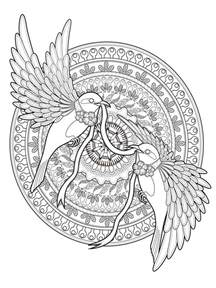 mandala coloring pages with animals animal mandala coloring pages for free printable