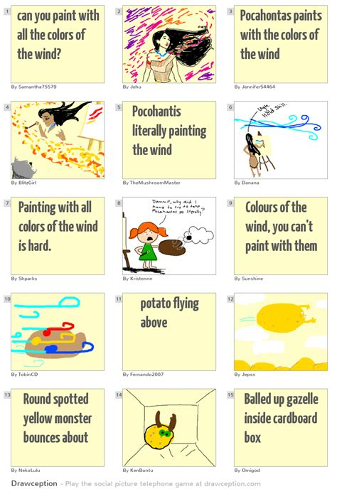 paint with all the colors of the wind lyrics can you paint with all the colors of the wind drawception