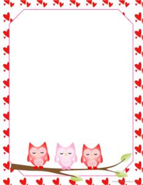 free printable valentine stationary borders pinterest the world s catalog of ideas