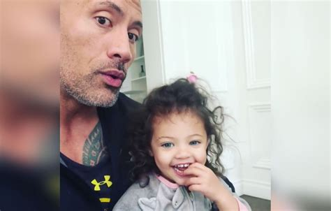 dwayne johnson the rock daughter see dwayne the rock johnson s video of daughter after