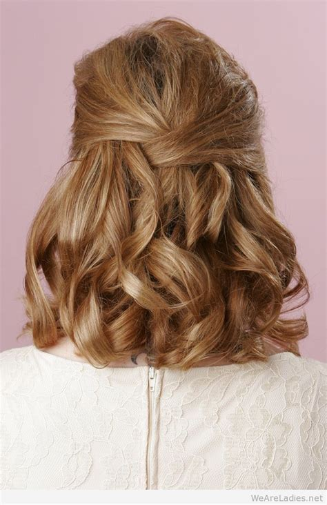 Half Up Curly Hairstyles by Half Up Half Curly Hairstyle For Medium Length Hair